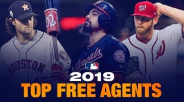 The Top MLB Free Agents Entering the 2020 Major League Baseball Season (Great 2020 Free Agent Class)